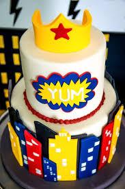 kara u0027s party ideas wonder woman cake from a wonder woman superhero