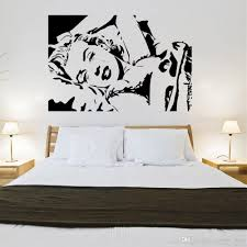 creative marilyn monroe design wall sticker for living room