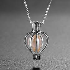 pearl wish necklace images Love pearl wish pearl necklace set oyster can opening cage drop JPG