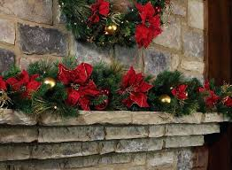 christmas garland with lights christmas garland for sale decorate the fireplace in greenery