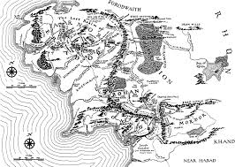 The Hobbit Map Tolkien Literature Resources Maps Middle Earth