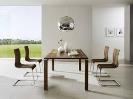 modern dining room tables luxury red wall accent color design nice