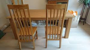 Oak Table And Chairs Solid Oak Dining Table And Chairs Second Hand Household
