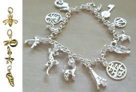 charms bracelet design images Charm bracelet design your own sterling silver or 9ct yellow png