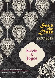 wedding save the date magnets 5x7 custom damask pattern wedding save the date magnets 25 mil