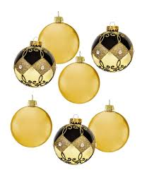chocolate gold glass unique ornament set treetopia