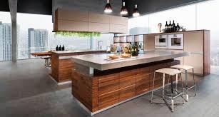 cuisine en noyer cuisine contemporaine en bois massif en bois avec îlot k7 by