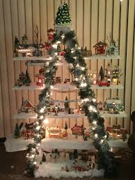 great way to display your snow village in a small space so easy