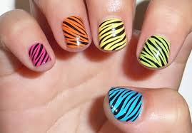yellow nails with black and white zebra print nail art tutorial video
