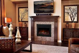 decoration modern built in electric fireplace insert multi
