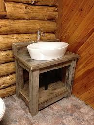 Wooden Bathroom Vanities by Reclaimed Wood Bathroom Vanity Hometalk