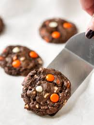peanut butter candy double chocolate cookies the chunky chef