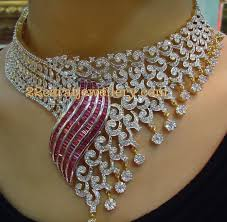 heavy diamond earrings 22ct heavy diamond necklace by tbz jewellery designs
