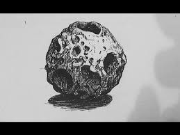 pen and ink texture challenge how to draw an asteroid youtube