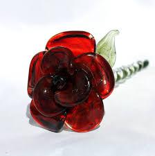 glass roses glass stemmed glass flower forever untamed
