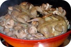 cuisiner caille cailles flambées à la sauce tomate