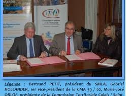 chambre des metiers pas de calais la signature de la convention de partenariat entre le syndicat mixte