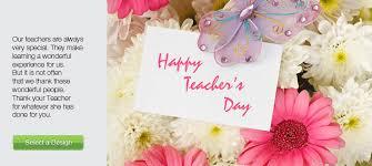 happy teachers day greeting card for you