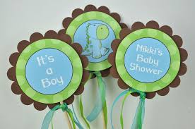 dinosaur baby shower 3 centerpiece sticks dinosaur baby shower brown green and