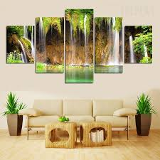 home decor waterfalls waterfalls painting 5 piece canvas prints prntable painting