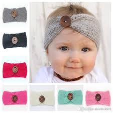 crochet headband for baby new baby fashion wool crochet headband knit hairband with