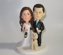 custom wedding cake toppers and groom custom wedding cake topper with dogs personalized cake topper