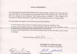 letter of agreement between father richard kunst and commandant