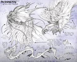 grumpy sea king dragon reference sheet by bezzalair on deviantart