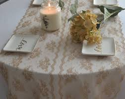 Gold Lace Table Runner Champagne Gold Lace Table Runner 10 Wide 3ft 12ft