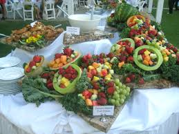 fruit displays weddings at eagle golf course