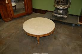 Round Marble Top Coffee Table The Difference Auction Vintage Antique And Collectibles Item