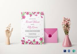 bridal invitation templates 25 bridal shower invitations templates psd invitations free