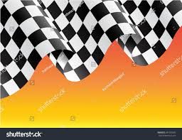 Black And Yellow Flag Checkered Flag Flying On Yellow Design Stock Vector 581075065