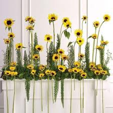 wedding flowers sunflowers large sunflowers wedding flowers altar arrangement