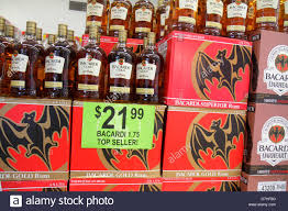 alcoholic drinks bottles miami beach florida walgreens liquor store shelves retail display