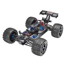 rc nitro monster trucks traxxas red electric e revo 1 10 scale 4wd brushless monster