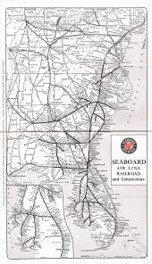 Chicago L Train Map by The Seaboard Air Line Railroad