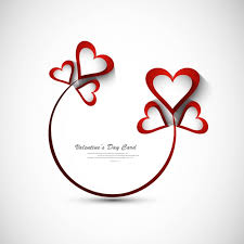 beautiful valentines day greeting vector free