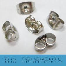 1000pcs 18k gold silver rhodium butterfly back stoppers earrings