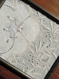 vintage lace framed antique embroidery and handmade lace in old sold by vintagepolkadotcom