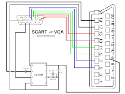 scart 2 vga pinout cable and connector diagrams usb serial