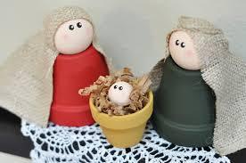 clay pot nativity mindy peltier