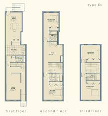 narrow house floor plans small row house floor plans adhome