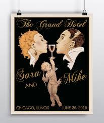 art deco wedding personalized wedding gift wedding decor