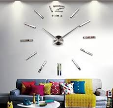 home decor wall clocks amazon com fashion large diy wall clock home decor 3d mirrors