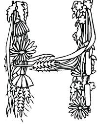 coloring pages with letter h letter h coloring pages alphabet flower ribbon idea in letter h