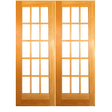 Lowes Wood Doors Interior Shop Reliabilt Classics Unfinished Solid Clear Glass Wood