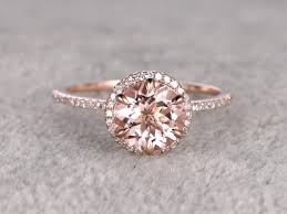 engagement rings cut morganite engagement ring gold gold halo