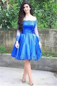 royal blue lace applique knee length party cocktail dresses off