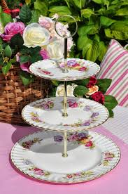 Flower Of The Month Royal Albert Sweet Pea April Plates Three Tiered Cake Stand To Buy